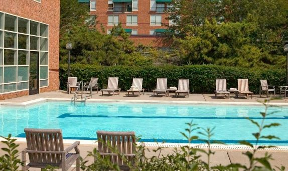 outdoor pool at the westin princeton at forrestal village - Outdoor House Pools